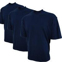 Mens 100% Cotton Mock Turtleneck Short Sleeve Golf 3 Shirt Gift Pack M L Xl Xxl