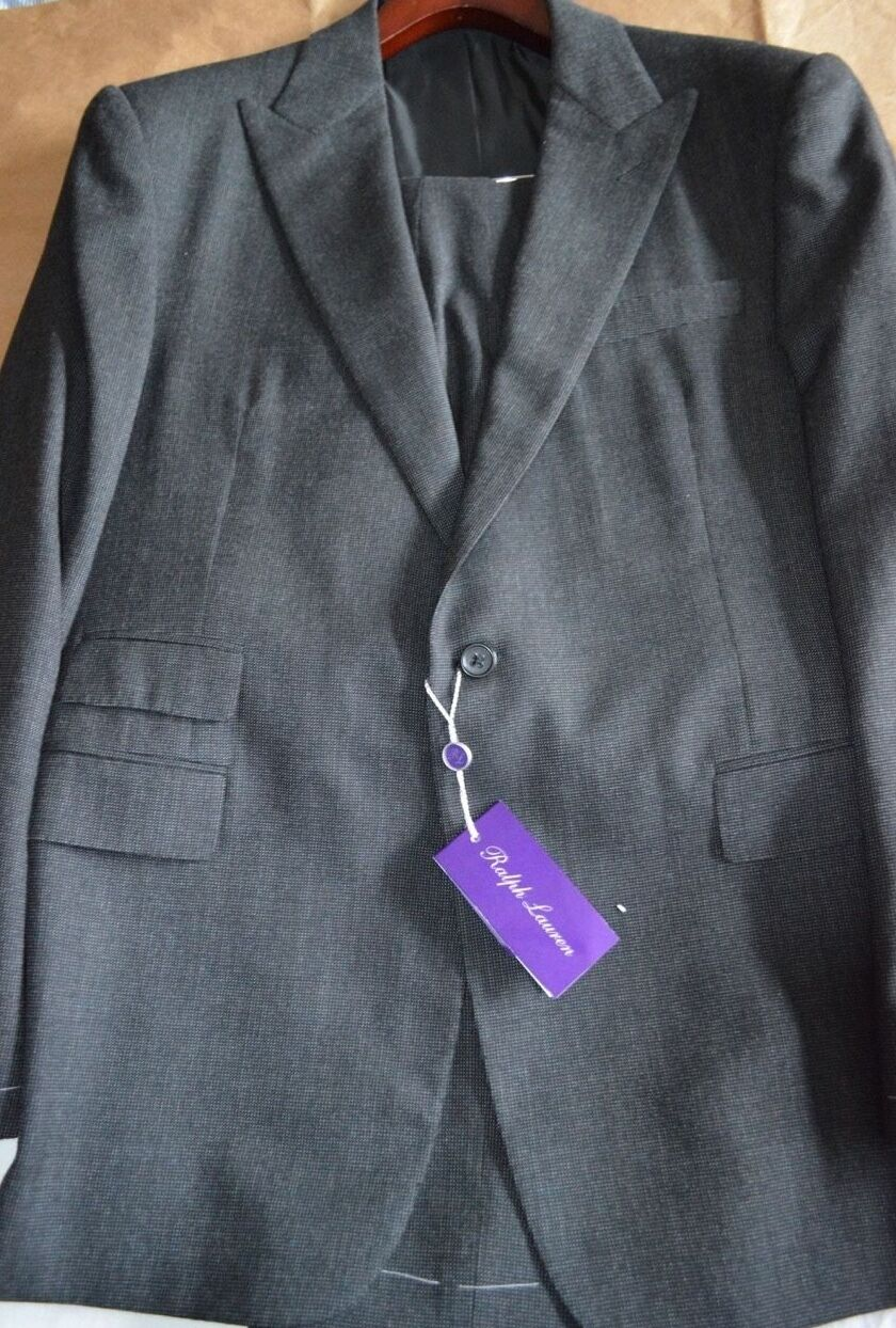 4995 NWT 44R 54 lila LABEL Ralph Lauren DRAKE Nailhead Peak Herren wool suit