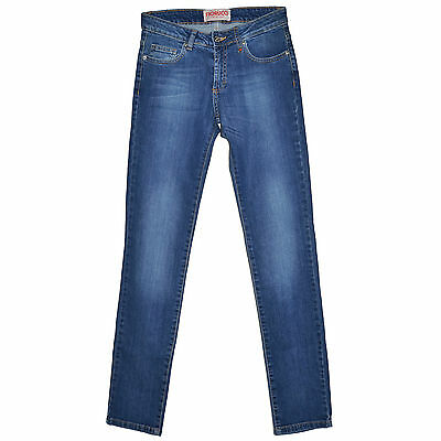 Fiorucci Jeans Droit Stretch Blue Indigo 25 Used Vintage Look Regular 34-36 Delizioso Nel Gusto