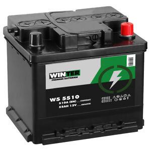 Autobatterie WINTER 12V 55Ah Starterbatterie NEU WARTUNGSFREI TOP ANGEBOT