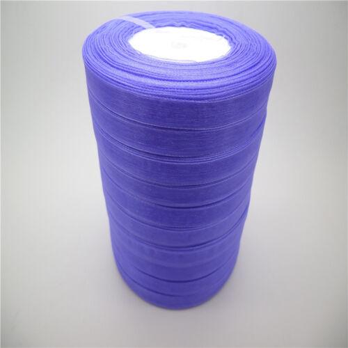 """Nouveau 50 Yd environ 45.72 m 3//8/"""" 9 mm Satin Bord Sheer Organza Ribbon Bow Craft U Pick colors"""
