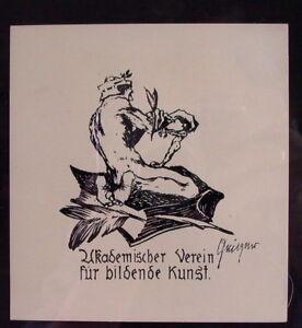 Willi-GEIGER-1878-1971-Ex-Libris-Akademischer-Verein-fuer-Bildende-Kunst