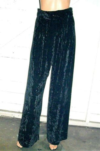 Vintage Bonnie Strauss Black Velvet Wide Leg Pants