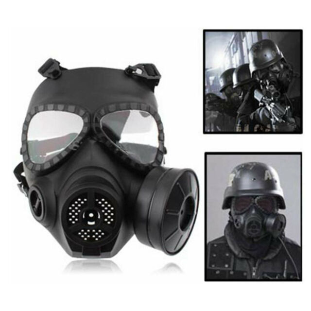 Airsoft Paintball Full Face MA-04 Dummy Gas Mask Respirator Turbo Fan System NEW