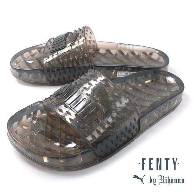 PUMA Womens Fenty by Rihanna Black Jelly Slide 36577302 Sandals Shoes 5.5