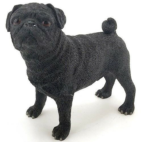Dog Studies By Leonardo Black Standing Pug New Gift BOXED LP22894