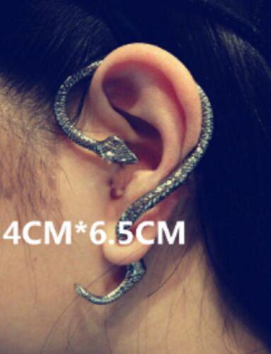 1x Mignon Ton Argent Cobra Serpent Bague D/'oreille Clous d/'oreilles grimpeur Anneaux SLV ECF30
