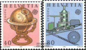 Schweiz-1249-1250-kompl-Ausg-gestempelt-1983-Europa