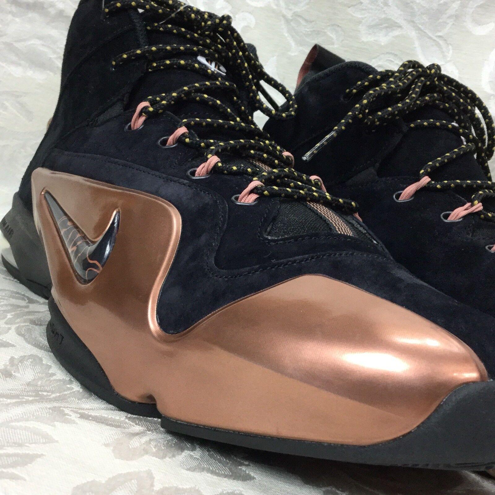 Nike Zoom Air Penny vi 6 Premium PMR negro metálico Hombre de cobre 749629 001 Hombre metálico 11 633b49