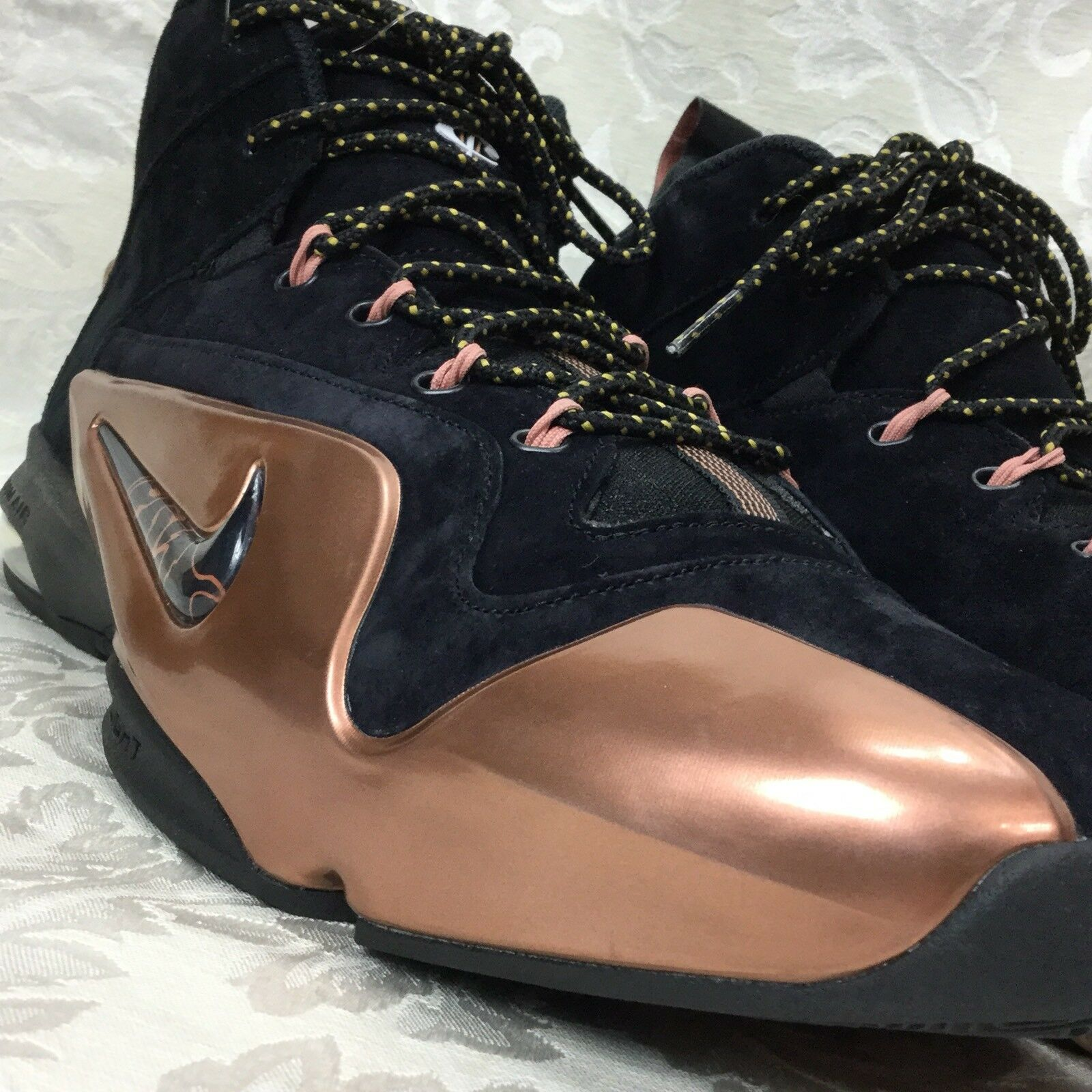 NIKE ZOOM AIR PENNY VI 6 PREMIUM PRM Black Metallic Copper 749629 001 mens 11 Wild casual shoes