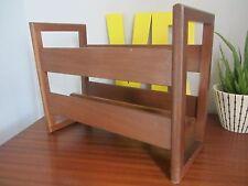 Mid century teak magazine rack danish good condition mcm retro newspaper storage