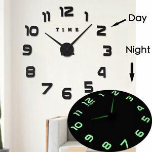 Luminous-3d-Large-Wall-Clock-Sticker-Watch-Diy-Acrylic-Mirror-Clocks-Stickers