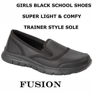 GIRLS SCHOOL SHOES, BLACK,UNIFORM
