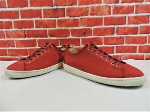 Détails sur Paul Smith Homme Rouge Nubuck Chaussures En Cuir Baskets Sneakers UK 8 US 9 EU 42 afficher le titre d'origine