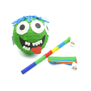 Monster Pinata Set: Monster Pinata + Piñata Maske + Pinata Stab, Party Geschenk
