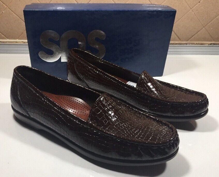 206) SAS Zapatos simplificar Marrón Cocodrilo Patrón para mujer mujer mujer 10.5 N  NWB   buscando agente de ventas