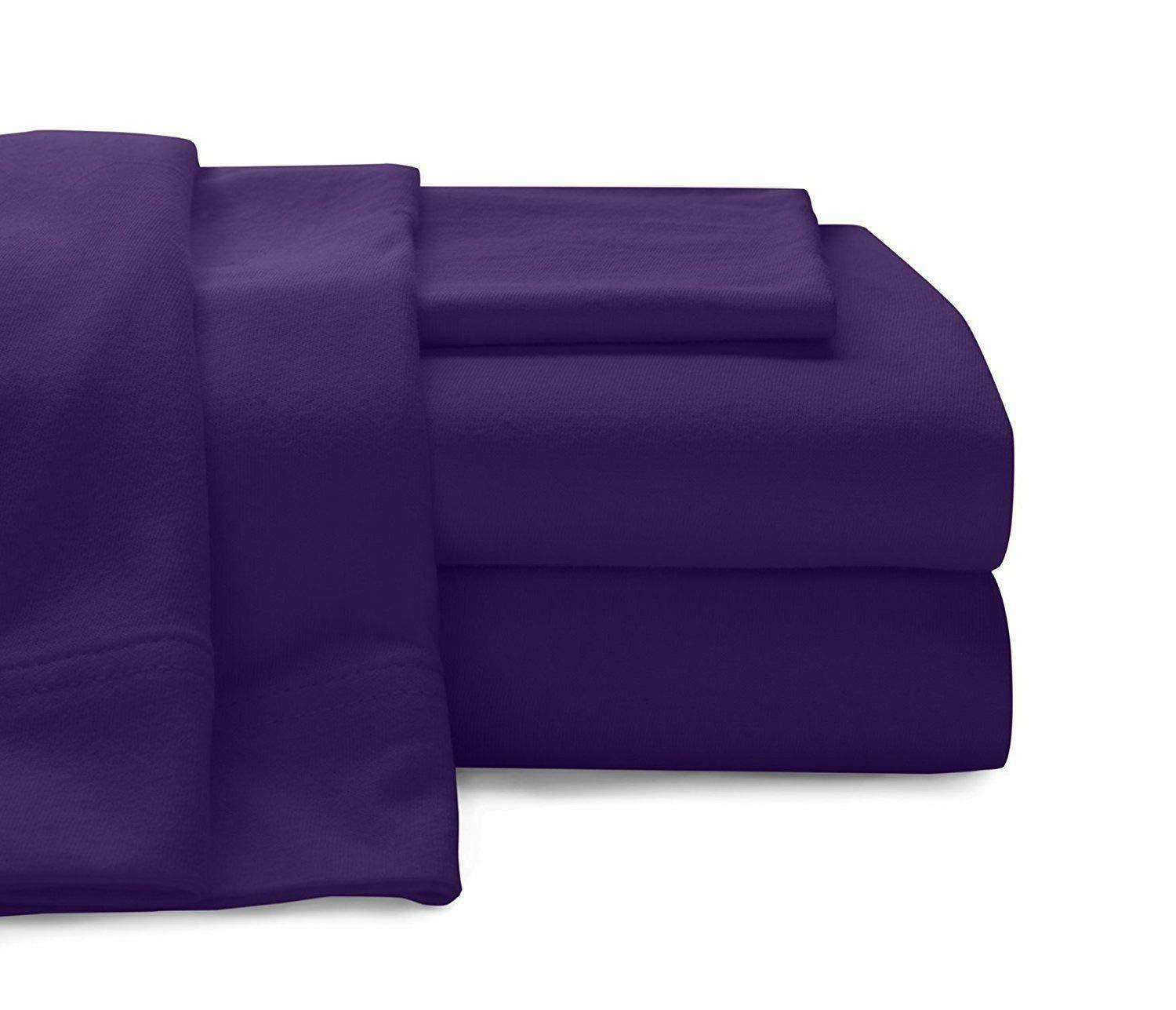 1000 Thread Count Egyptian Cotton USA-Bedding Items Select Size Purple Solid