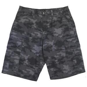 Oakley-DELTA-X-Cargo-Short-Size-32-M-Black-Camo-Casual-Shorts-Mens-Walkshort