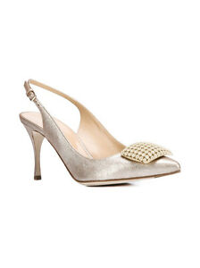 ASKA Womens Gabby Gabby Gabby Navy Leather Evening Heels