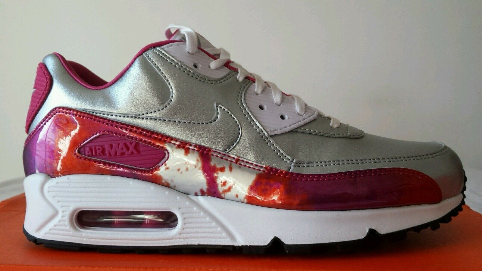 NIKE AIR MAX 90 97 WMNS silver FUXIA N.44 PELLE LIMITED EDITION OKKSPORT NEW