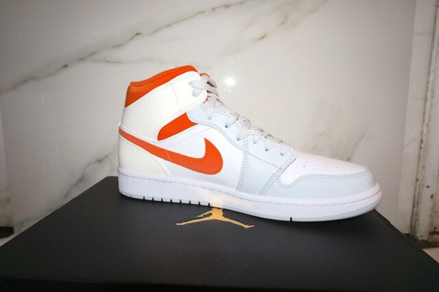 Nike Air Jordan 1 Mid Starfish Pure Platinum Men S Size 8 See Description For Sale Online Ebay