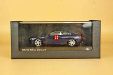 1/43 bmw 650i coupe blue color die cast model