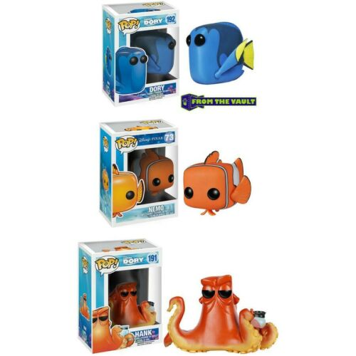 Nemo Set of 3 NIB Funko POP Nemo, Dory, and Hank