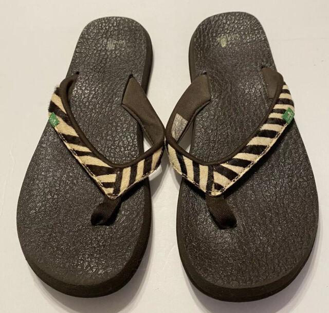Sanuk Turquoise Yoga Spree Spectrum Flip Flops Sandals Women S Size 6 Thongs For Sale Online Ebay
