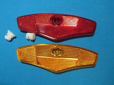 "BICYCLE BIKE SPOKE MOUNTED WHEEL REFLECTOR SET OF TWO 5/"" AMBER /& RED NEW"