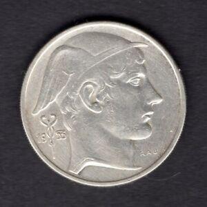 BELGIQUE-1953-20-FRANK-BELGIE-ARGENT