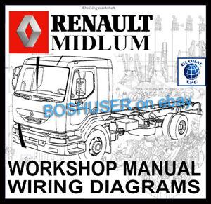 renault midlum truck lorry workshop service repair manual wiring rh ebay com Mack Renault Diesel 2002 Parts Used MACK Midliner