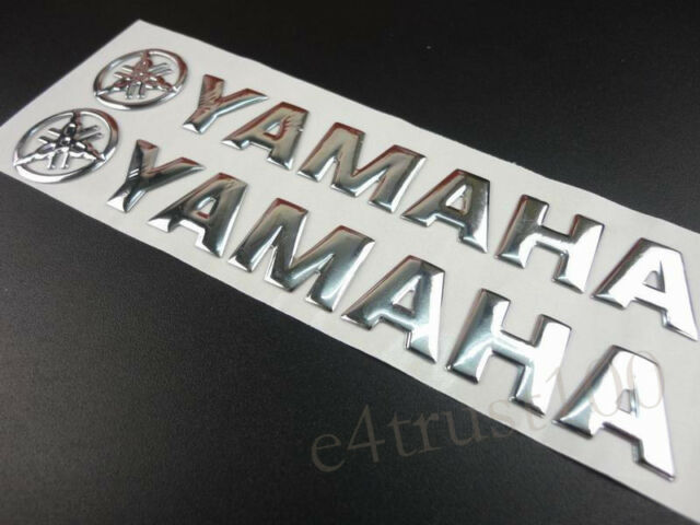 Silver Fairing Tank Emblem Decals For Yamaha Stickers Motorcycles Badge Custom