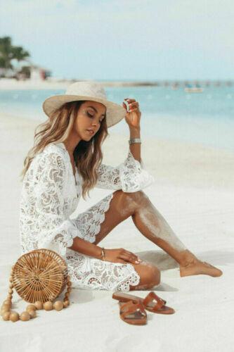 Womens Sheer Bathing Bikini Dress Suit Beach Swimwear Summer Swimsuit Cover Up