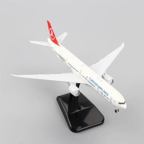 20cm Boeing B777-300ER Air Turkey Airplane Model w/Stand Collections Diecast