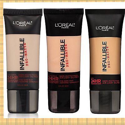 Loreal Infallible Pro-Matte Upto 24Hr Demi-Matte Finish Liquid Foundation CHOOSE