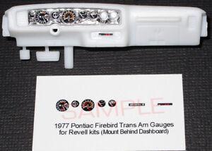 1977-PONTIAC-FIREBIRD-TRANS-AM-GAUGE-FACES-for-1-25-scale-REVELL-034-BANDIT-034-KITS