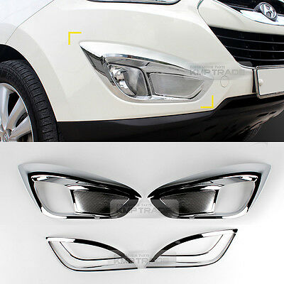 Fog Light Lamp Reflex Lens Molding For HYUNDAI 10-13 Tucson ix Black/&Chrome