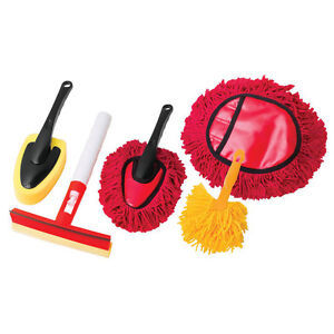 5pc-Car-Wash-Kit-With-Sponge-Mini-Dust-Brushes-Cleaning-Mitt-amp-Window-Sponge