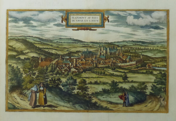 100% QualitäT Frankreich Blamont Au Pays De Vauge En Loreyne Lothringen Braun & Hogenberg 1581 Reinigen Der MundhöHle.