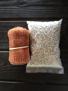 1 Liter Raschig Rings 1 2 Lb Copper Mesh Reflux Column