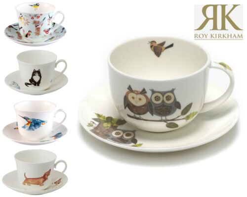 Roy Kirkham Jumbo Breakfast Cup and Saucer Sets in Various Designs