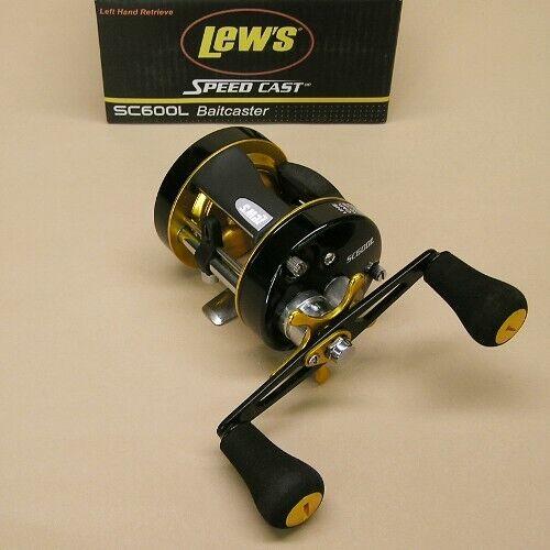 Lew's Speed Cast Round Baitcaster Reel 5.3 1 Left Hand Lews Model SC600L