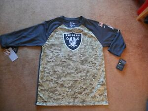 Authentic Nike Dry Field Oakland Raiders Salute To Service 3 4 Shirt ... c6a610f00