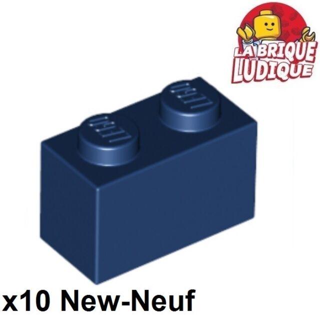 INTL LEGO NEW BULK LOT OF 100 1x2 1 X 2 X 1 BLUE BRICK BRICKS BLOCKS