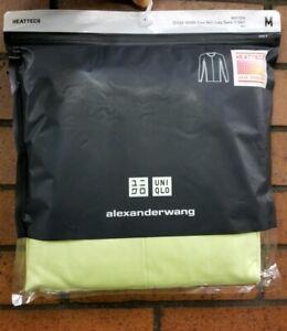 extra Uniqlo Nwt Wang Men de Alexander manga Medio Lima Camiseta cálida amarillo larga 00gSfq