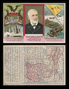 1880s N133 State & Territorial Governors & Coats of Arms Michigan *AA-7194*