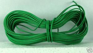 Model Railway/Railro<wbr/>ad Layout/Point Motor etc Wire 1x15m Roll 7/0.2mm 1.4A Green