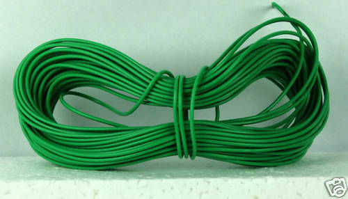 Model Railway//Railroad Layout//Point Motor etc Wire 1x 5m Roll 7//0.2mm 1.4A Green