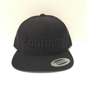 b58df29e983 Image is loading Compton-Snapback-Hat-3D-Embroidery-Cap-Yupoong-N-W-A-