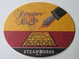 Details about BEER Bar COASTER ~ STEAMWORKS Brewing Signature Pale Ale ~*~  Vancouver, CANADA